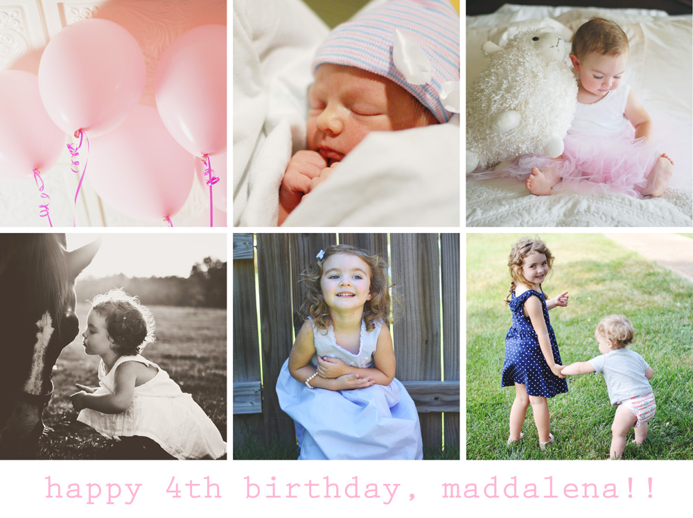 happy 4th birthday, maddalena!!!