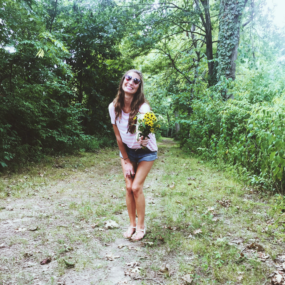 you and me, baby, go pickin' wildflowers…