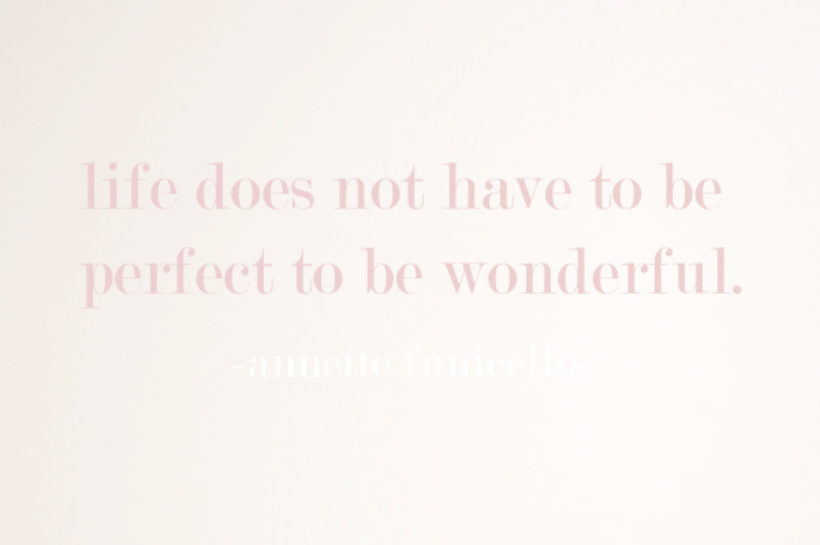 letting go of perfect!