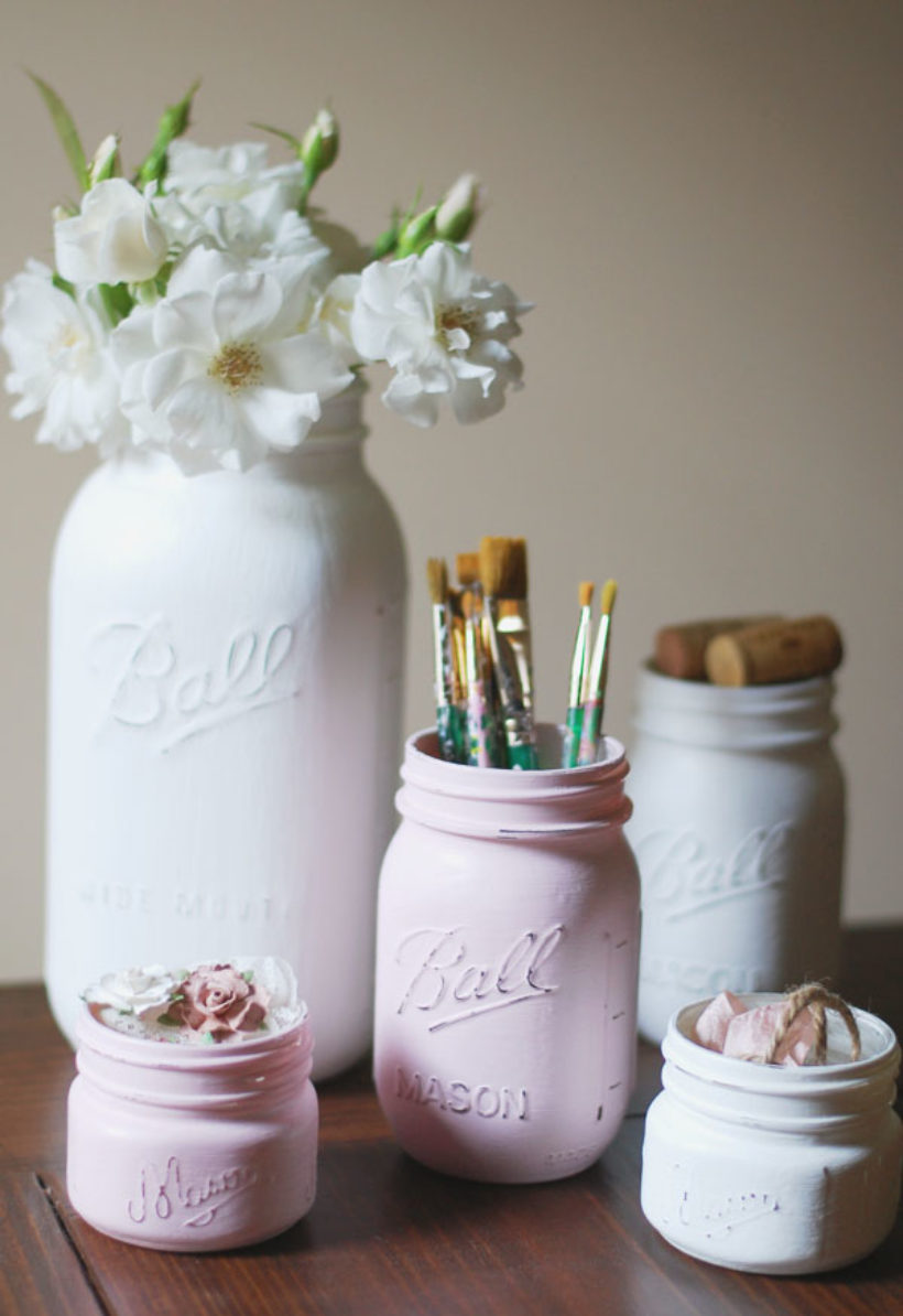 makey thursdays! chalk paint mason jars!