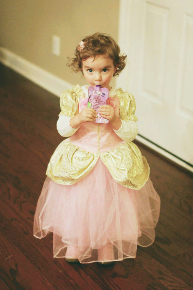 waking up is hard. even when you're a princess. even on halloween!